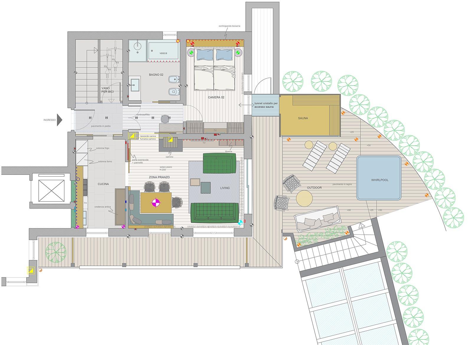 progetto residence a san cassiano